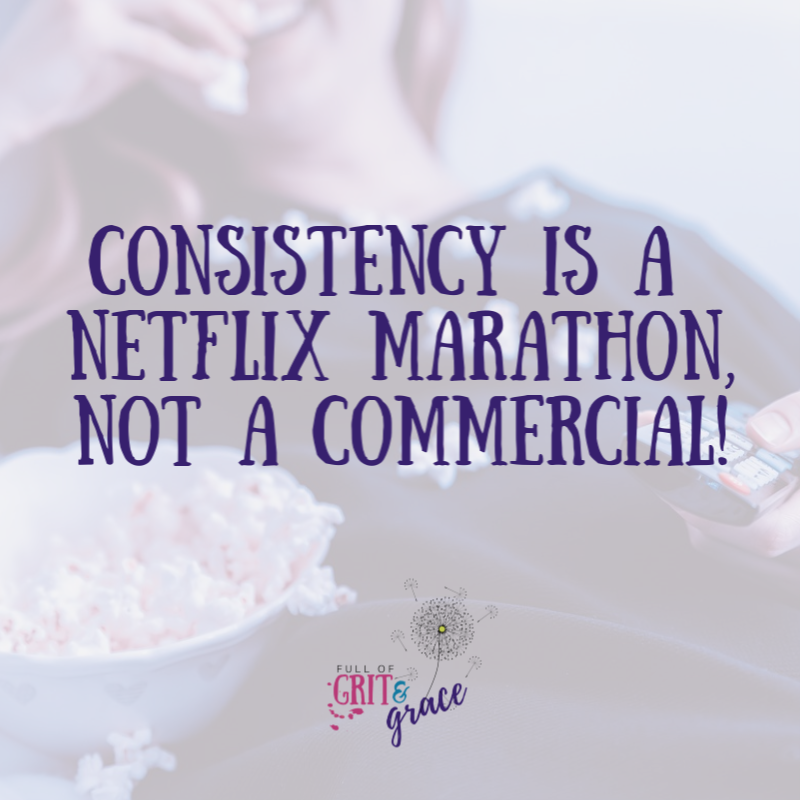 Consistency in business and on social media should be looked at as a netflix marathon, not a commercial. It takes time to build!
