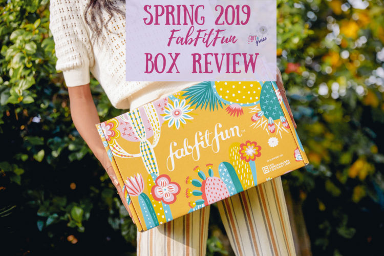 FabFitFun Spring 2019 subscription box review. Skincare, accessories, jewelry, and more!