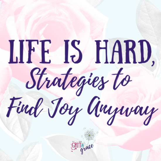 Life is hard, especially with a chronic illness or other difficulties. Here are my strategies to help you find joy anyway.