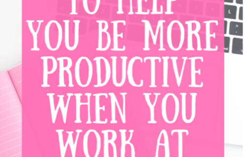 4 Strategies to help you be more productive and happier when you work at home
