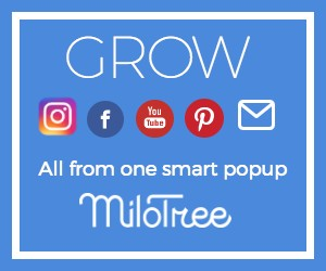 Grow your following with one easy popup from MiloTree