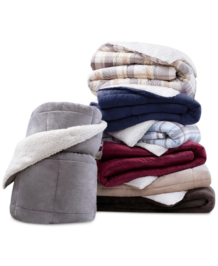 Macy's has Reversible Micro Velvet and Sherpa Down Alternative Hypoallergenics comforters on sale this weekend for $49.99. Click to learn more