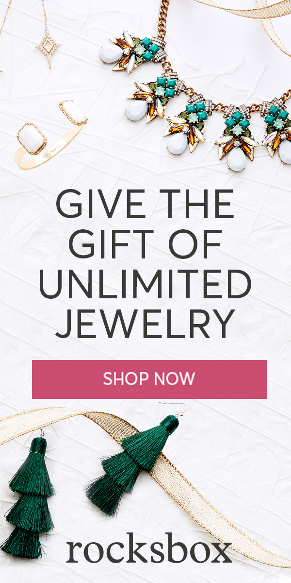 Give the gift of unlimited jewelry. Use code thejennagreenxoxo for a free box