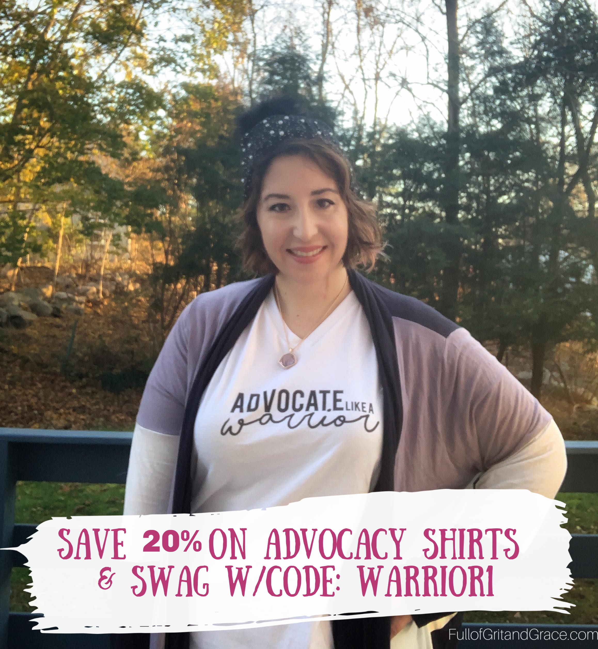 Save 20% of on advocacy shirts and swag with code WARRIOR1