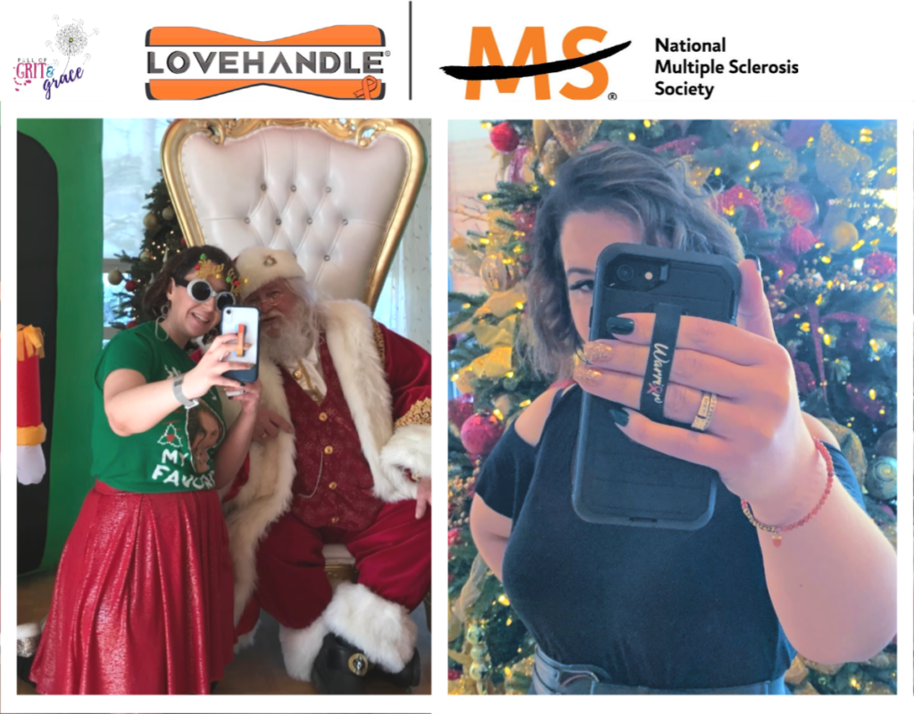 LoveHandle makes it easier to hold my phone, so I can connect with friends when I need support the most. I am totally biased because I had the privilege of working with LoveHandle to design this new line of handles, which will also benefit the National Multiple Sclerosis Society too!