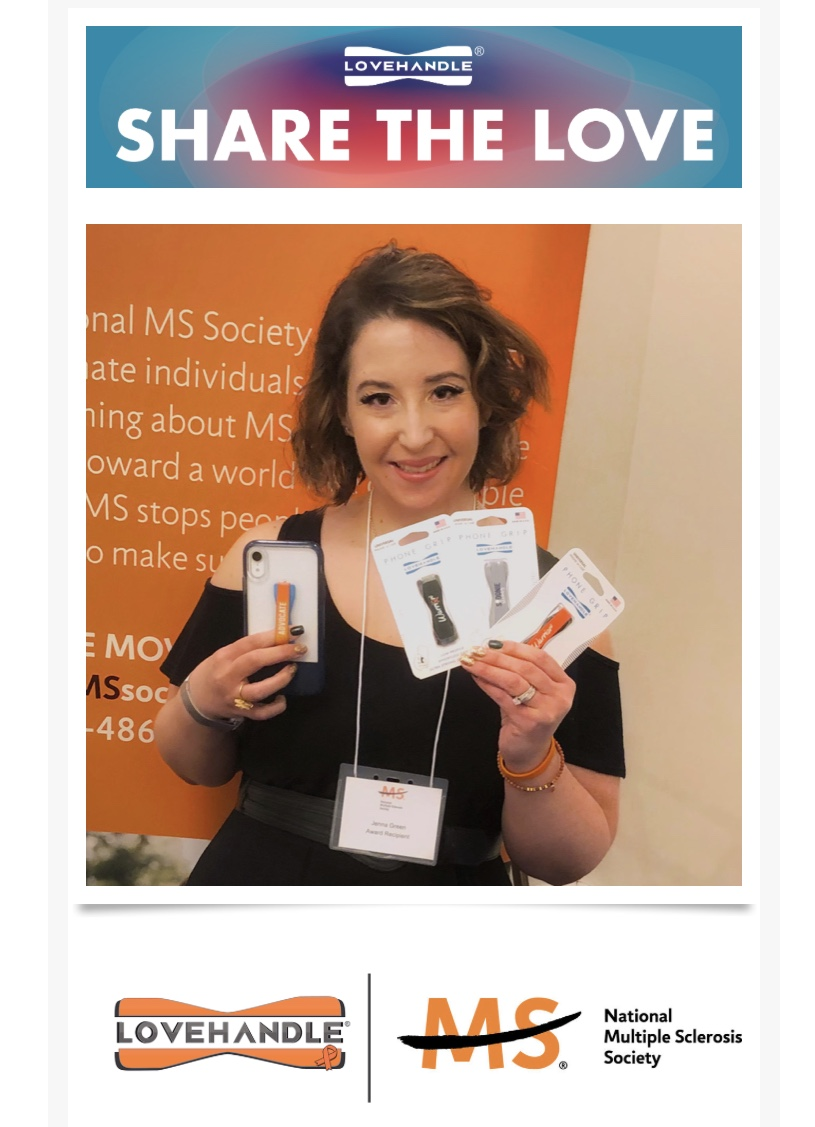 I'm proud to partner with LoveHandle to support the MS Society