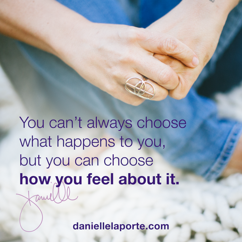 You can't always choose what happens to you, but you can choose how you feel about it. Chronic illness sucks, but you can still find community and purpose!
