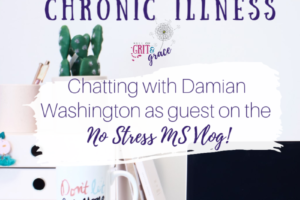 Setting Goals while living with Chronic Illness. My Guest Vlog appearance on Damian Washington's No Stress MS Vlog!