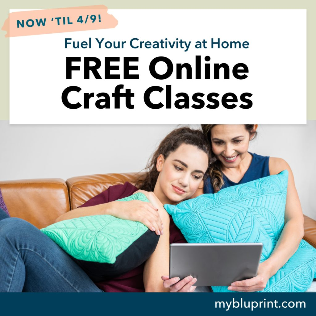 Craft More Happy Moments with our FREE Creativity Care Package 3/26-4/9/20! Watch over 1,300 creative education classes ranging from sewing, cooking, family crafts, and more!
